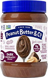Peanut Butter & Co. Dark Chocolatey Dreams Peanut Butter, Non-GMO Project Verified, Gluten Free, Vegan, 16 oz Jar