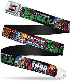 Buckle-Down Men's Seatbelt Belt Avengers Wmc090