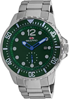 Seapro Men's Colossal Automatic Stainless Steel Strap, Silver, 24 Casual Watch (Model: SP5501)