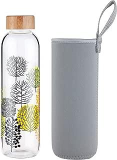 FCSDETAIL Botella de Agua de Cristal sin BPA, Botella de