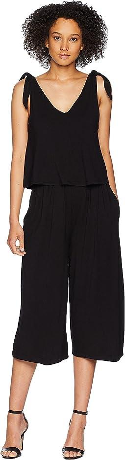 a047b4b261c8 Splendid rayon voile jumpsuit black