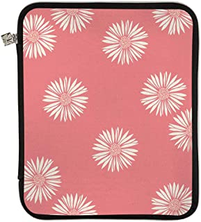Erin Condren Large Designer Planner Folio - Daisies (Salmon, Cherry Blossom, Ivory), Perfect Organizer for Documents, Planners, and Notebooks. Portfolio Case Holder with Zipper and Inner Pouch