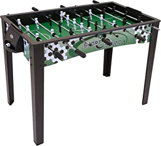 """Sport Squad FX48 - 48"""" Foosball Table for Adults and Kids - Arcade Table Soccer Game for the Basement or Game Room - Quick and Easy Assembly - Manual Scorers and Chrome Plated Steel Rods"""