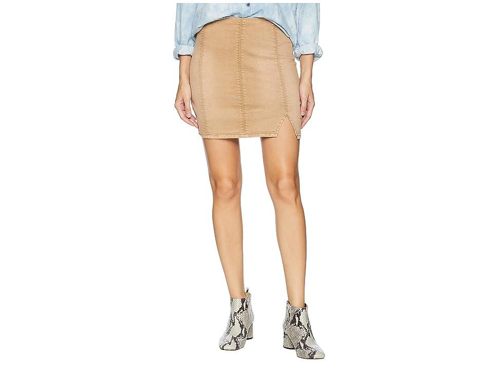 Free People Femme Fatale Pull-On Skirt (Khaki) Women