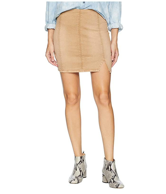 Free People Femme Fatale Pull-On Skirt (Khaki) Women