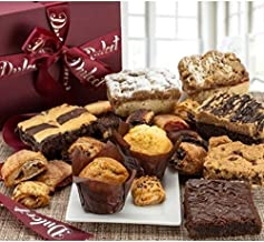Dulcet Gift Basket Deluxe Gourmet Food Gift Basket: Prime Delivery for Holiday Men and Women: Includes Assorted Brownies, ...