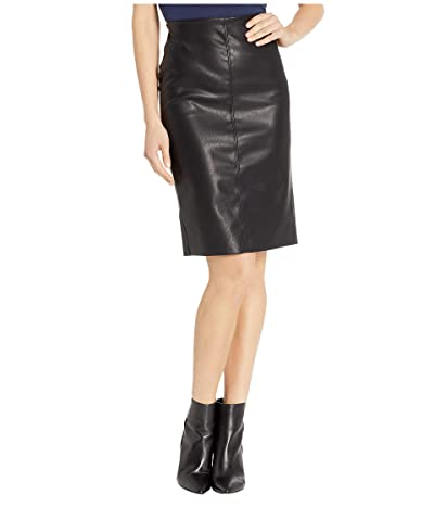 Blank NYC Vegan Leather Pull-On Pencil Skirt in Schooled-Black (Schooled-Black) Women