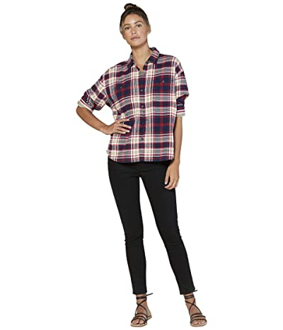 Outerknown Sierra Flannel Shirt (Marine Edie Plaid) Women