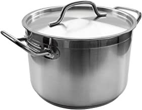 8 Qt Stainless Steel Stock Pot w/Cover