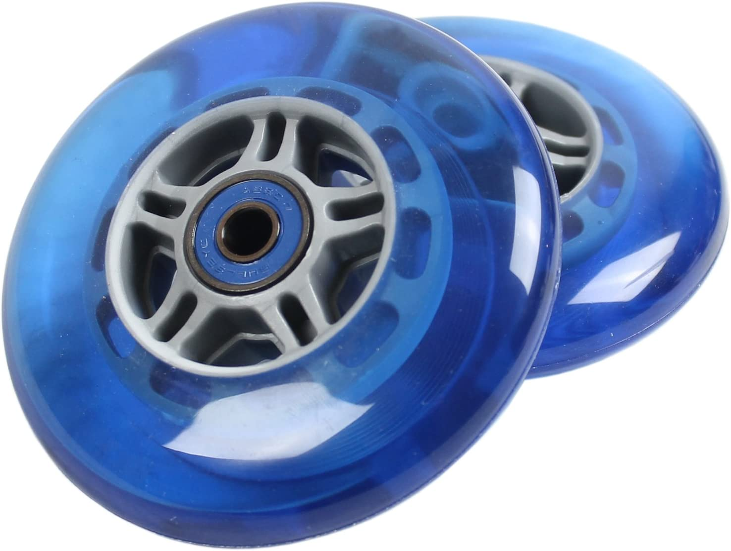 CLEAR Replacement Razor Scooter Wheels ABEC 7 Bearings PINK Grips