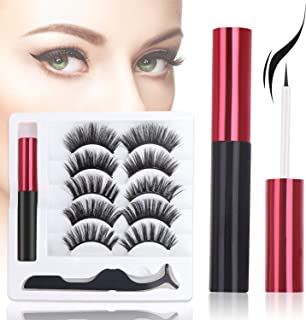 Magnetic Eyeliner and Lashes Kit, Stepjoy Magnetic Liner for Magnet Eyelashes Reusable Lashes (5 Pairs)