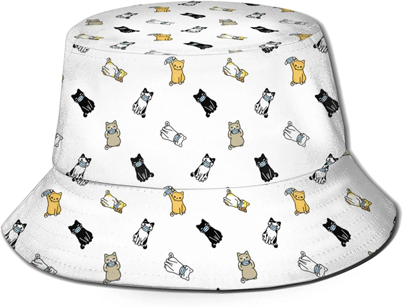 Bucket Hat Fisherman Sun Cap for Women Beach Hats Funny Summer Unisex Packable Men Girls Travel Outdoor