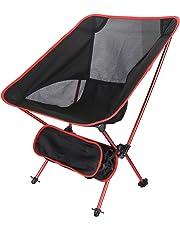 アウトドアチェア Ablewe 折りたたみ椅子  アルミチェア 耐荷重120kg 超軽量 収納バッグ付