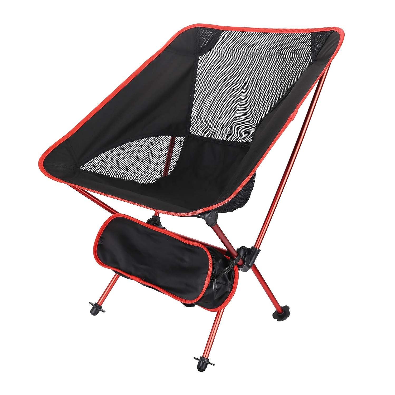 を除く縫うリスキーなアウトドアチェア Ablewe 折りたたみ椅子  アルミチェア 耐荷重120kg 超軽量 収納バッグ付