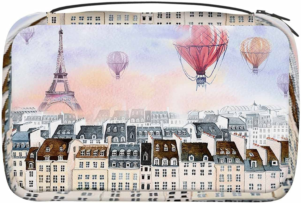 WONDERTIFY Sales for sale Hot Air Balloon Toiletry Bag Outstanding Tower Eiffel Watercolor