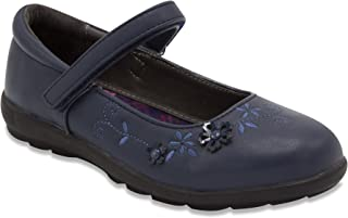 Girls Gretchen Flat Mary Jane Oxford Shoe Black