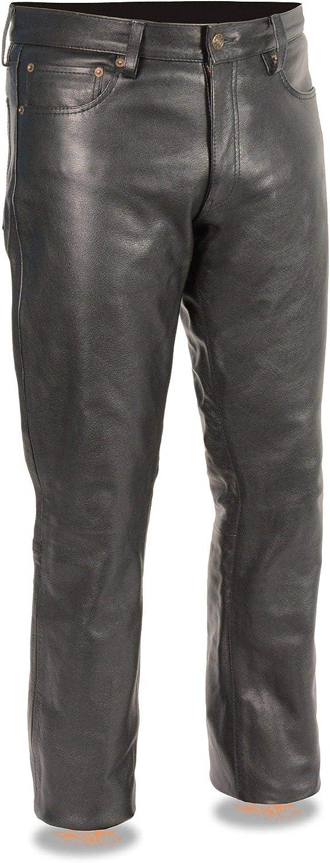 Milwaukee Leather スーパーSALE セール期間限定 LKM5790 Men's Black 5 Pocket 永遠の定番 P Classic