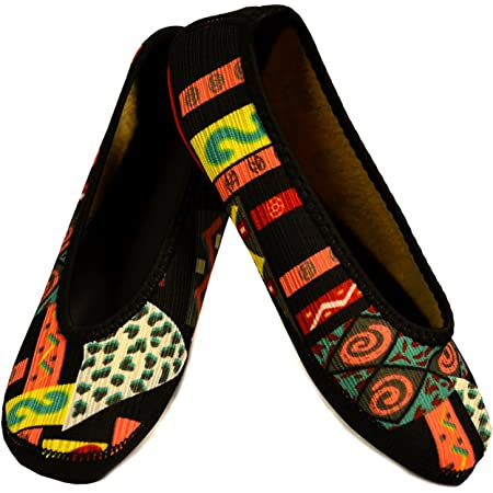 Patchwork Foldable /& Flexible Flats Travel Slippers /& Exercise Shoes Yoga Socks X Large House Shoes Dance Shoes Indoor Slippers NuFoot Fuzzies Ballet Flats Womens Shoes Slipper Socks