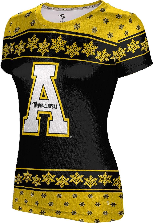 Appalachian State University Ugly Holiday Girls' Performance T-Shirt (Snowflake)