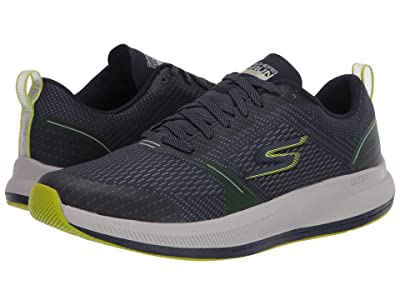 SKECHERS Go Run Pulse (Navy/Lime) Men