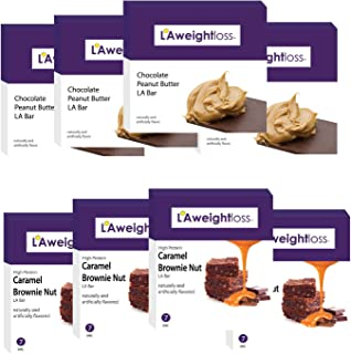 LA Weight Loss Bars - Chocolate Peanut Butter & Caramel Brownie 8 Pack