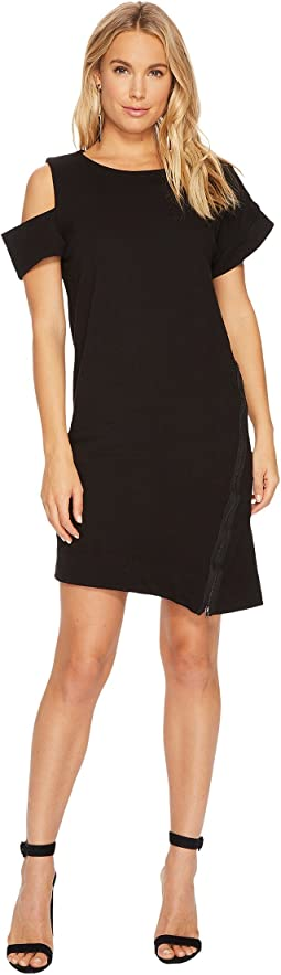 HEATHER - Caplan Asymmetrical Zip Dress