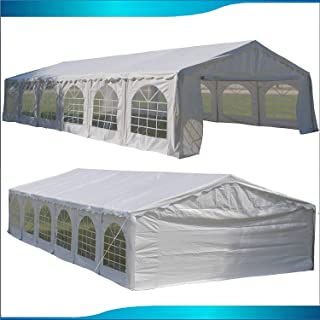 White 40`x20` Budget PE Party Tent Canopy Shelter with Waterproof Top