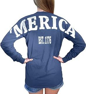 Merica Stadium Jersey USA T Shirt with Front Pocket