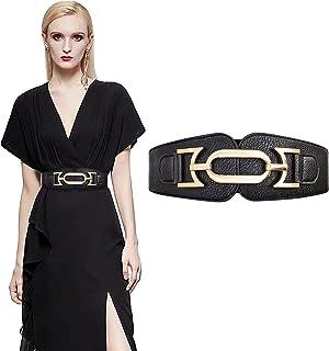 حزام مطاطي للنساء فساتين lorgamax أحزمة مرنة واسعة للنساء مقاس إضافي مع إبزيم متشابك