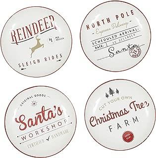 Design Import India Plate Appetizer Santa, 1 EA