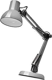 EMOS LUCAS Lampe de bureau design vintage avec douille E27 / lampe de chevet en métal avec bloc d'alimentation / lampe de ...