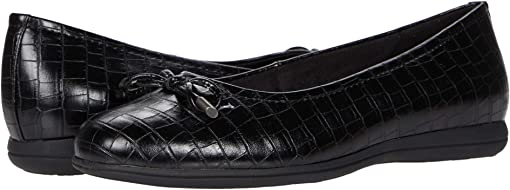 Black Croco Veg Calf Leather