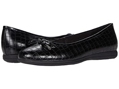 Trotters Dellis (Black Croco Veg Calf Leather) Women