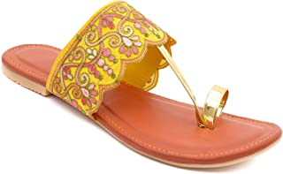 Shree Balaji Footwear EVA Slip-On Fashion Sandal For Women and Girls (SBFG0038-Yellow-6)