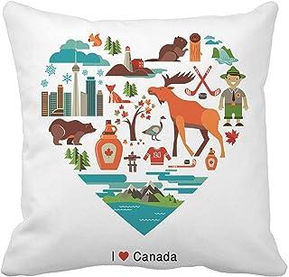 Kanada 4 Teiliges Kissenbezugs Set Stempel Design