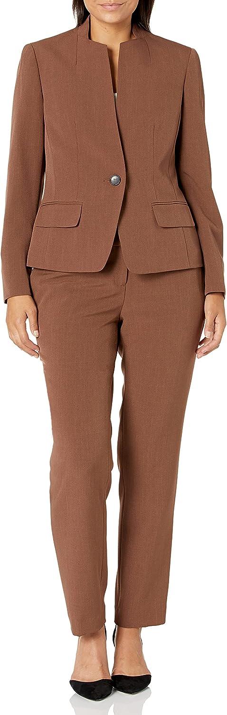 Le Suit Women's Crepe 1 Button Jacket & Slim Pant