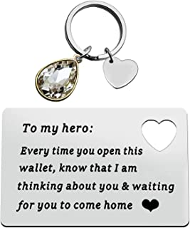 Engraved Wallet Insert Card for Dad Grandpa Husband Boyfriend Fiance, Father's Day Gifts for Men, Wallet Love Note Gifts for Him, Anniversary Christmas Birthday Gifts for Father Daddy Husband Gift