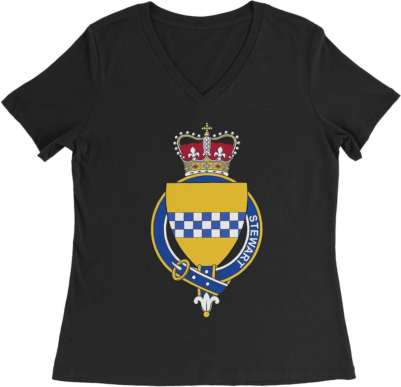 HARD EDGE DESIGN Women's Scottish Garter Family Stewart T-Shirt