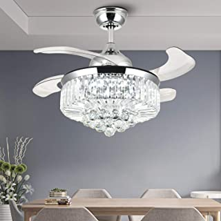 NOXARTE Ceiling Fan with Light LED Dimmable Modern...