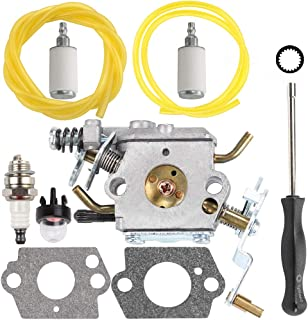 Kizut C1M-W47 Carburetor for Poulan PP5020AV PP5020 2 Stroke Gas Chainsaw 573952201 Craftman 358350980 358350981 with Fuel Line Primer Bulb Kit