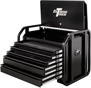 Extreme Tools TX362505RBBK Tx Series Reinforced 5-Drawer Extra Capacity Road Box with Friction Slides, 36-Inch, Wrinkle Black Powder Coat Finish