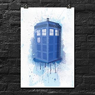 Doctor Who Tardis Splash Art Poster Wall Print | Inspirational Motivational Gym Classroom Home Office Dorm | 18 X 12 Inches | SJC207