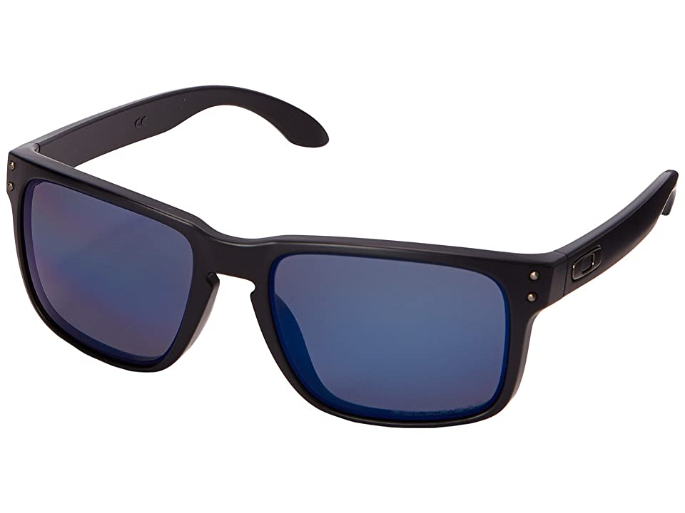 Oakley Holbrook (Matte Black w/Ice Iridium Polarized) Sport Sunglasses