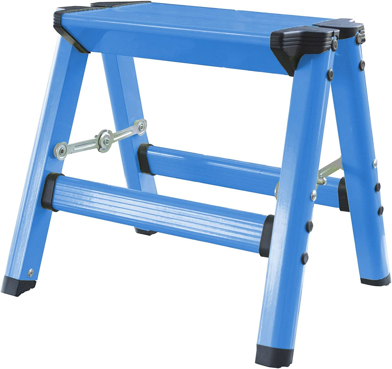 Offex Kids Aluminum Folding Single Step Stool - Neon bluee