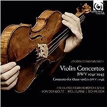 J.S.バッハ : ヴァイオリン協奏曲集 (Johann Sebastian Bach : Violin Concertos BWV1041-1043 , Concerto for three violins BWV 1064R / Freiburger Barockorchester , Von der Goltz , Mullejans , Schreiber) [輸入盤]