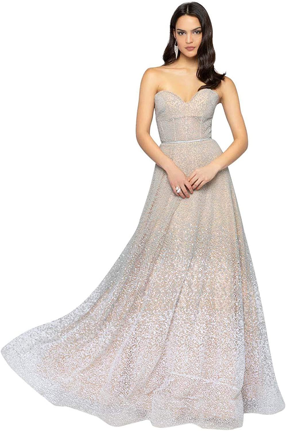 Terani Couture  1911P8482 Strapless Beaded ALine Gown
