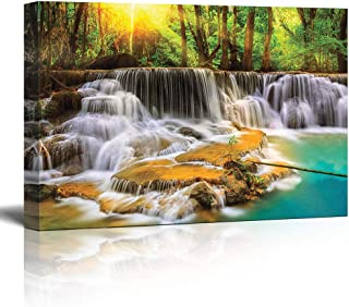 Four Creators Beautiful Nature Scenery Painting Exclusive Framed Wall Art Paintings Framed Size (Wood,Cloth 23 x 1.5 x 15 ...