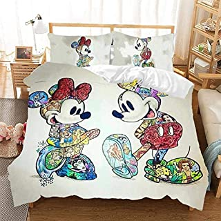 No Comforter,Full Size Soft Microfiber Cozy Cute Printing Bedding Sets for Kids Muccyy Anime 3-Pieces Brushed Duvet Cover Set 1 Duvet Cover /& 2 Pillow Cases