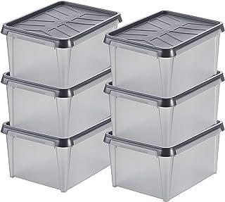 Lot de 6 Boîtes de Rangement Étanches - Protègent contre Humidité, Poussière, Insectes et Variations de Température - Dry ...