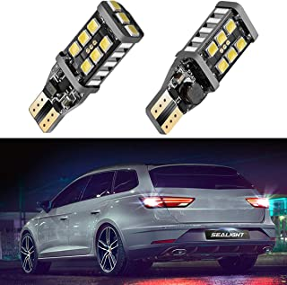 SEALIGHT 912 921 LED Backup Light Bulbs, T15 906 W16W for Back Up Lights Reverse Lights, 6000K Xenon White, 1000 Lumen High Power 2835 15-SMD Chipsets Extremely Bright Error Free, 2 Pack